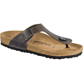 Birkenstock Gizeh Flips Oiled Leather Regular, iron/oiled leather